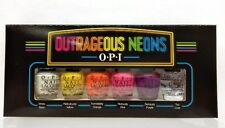 OPI - OUTRAGEOUS NEONS MINI Collection -White Base + 4 Colors +Top Coat x 1/8oz