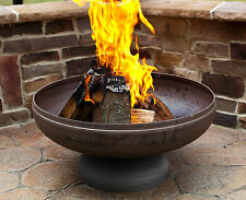 "30 "" FIRE PIT NATURAL STEEL FINISH  3/16"" STEEL USA MADE LIFETIME WARRANTY"