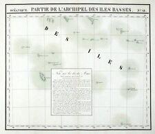 BASS ISLANDS, FRENCH POLYNESIA, PACIFIC OCEAN, VANDERMAELEN  antique map 1827
