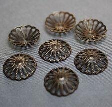 Low Antique Bronze Bead Cap 13mm  - Pack of 50 pcs