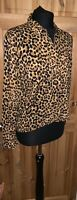 H&M Size 10 Leopard Print Shirt Blouse Top Blogger Cute Animal Luxe