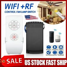 Smart WiFi Fan Light Switch RF App Voice Timing Remote Control For Alexa Google
