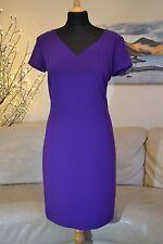 Ralph Lauren Womens Dress Bodycon Purple Alkas V-Neck Straight cut - Sz 10 UK