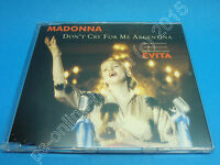 """5"""" Single CD Madonna - Don't cry for me Argentina (J-216) 4 Tracks Germany 1996"""