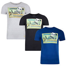 Blend New Men's Slim Fit Panda Woman Print T-Shirt Jersey Cotton Top