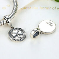 New Authentic 925 Sterling Silver Flower European Charm Bead fit DIY Bracelet