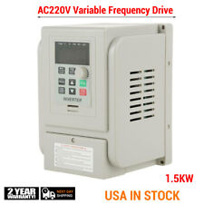 Industrial Fequency Converter 1.5KW 220V VFD 2HP Variable Inverter Drive Convert