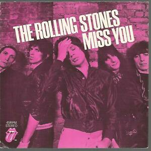 The Rolling Stones - Miss You, 1978 UK 45 P/S VG+/EX