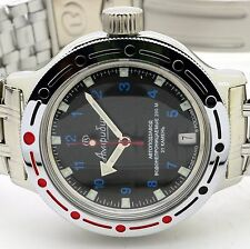 RUSSIAN VOSTOK  AMPHIBIA AUTO 420268  MILITARY DIVER  WRIST WATCH NEW
