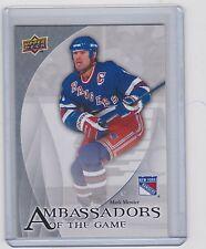 10-11 2010-11 UPPER DECK MARK MESSIER AMBASSADORS OF THE GAME AG29 RANGERS