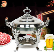 360° Catering Classic Stainless Steel Chafing Dish Half Round Buffet Chafer Usa
