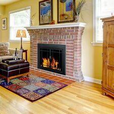 Pleasant Hearth Glass Fireplace Door Easton Black Large EA-5012 Mesh Screens New