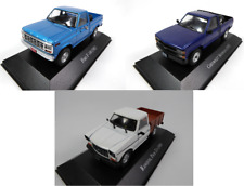 Set of 3 Pick up Model Cars Ford Chevrolet Ranquel - 1:43 SALVAT Diecast LAQV7