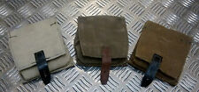 Genuine Russian Army Vintage Canvas Grenade Pouch W Belt Loops Kh/Br - NEW