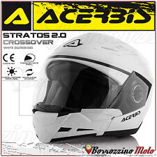 CASCO MOTO SCOOTER ACERBIS STRATOS 2.0 CROSSOVER JET/INTEGRALE MONO BIANCO TG. L