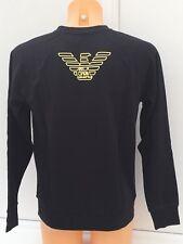 EMPORIO ARMANI EA7 Sweater in Black with EA7 Yellow Logo Sizes S-XL BNWT