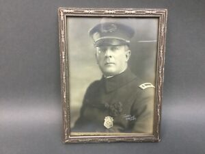 ORIGINAL VINTAGE PHOTO: Local Seattle Police Lieutnant Uniform  1920's Framed
