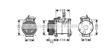 CHRYSLER Voyager 2.8 CRD AIRCON COMPRESSOR 10/02-05/07 A PV6 NEW O.E DENSO UNIT