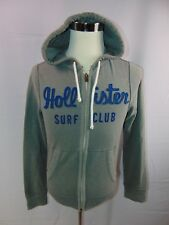 Hollister Surf Club Men's S Long Sleeve Zip Front Gray Hoodie Casual Sweatshirt