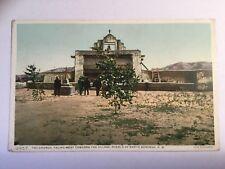 The Church Facing West Pueblo Santo Domingo Fred Harvey Postcard