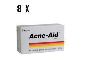 8 x Acne-Aid Soap Bar Stiefel Pimple Prone Oily Acne Skin 100g  - Expedite Ship