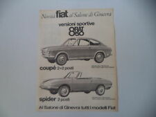 advertising Pubblicità 1965 FIAT 850 COUPE'/SPIDER