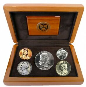 1950 PROOF SET IN OFFICIAL U.S. MINT DISPLAY SILVER UNCIRCULATED BIRTHYEAR COINS