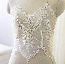 38.1cm pour mariée dentelle brodée bordure ruban Ivoire câblé mariage