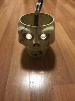 Vintage Monicore 1998 Halloween Trick Or Treat Light Up Skull Candy Bucket Pail