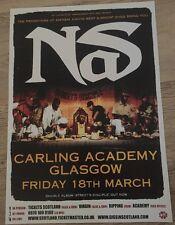 NAS, Rare gig/tour poster, March 2005, Glasgow