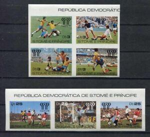 s5440) S.TOME E PRINCIPE 1978 MNH** WC Football - CM Calcio 7v IMPERFORATED