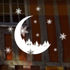 Christmas Snow Moon Wall Sticker Decal Bedroom Home Decoration Window Wallpaper