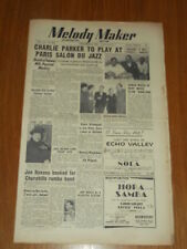 MELODY MAKER 1950 #898 DEC 2 JAZZ SWING CHARLIE PARKER JACK NATHAN GERALDO