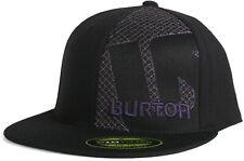 New Burton Snowboards Black  Purple Flexfit Fitted Baseball Hat Size 6 7/8-7 1/4