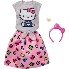 Barbie Hello Kitty Gray Top/Skirt Fashion