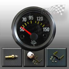 "Oil temp Temperature gauge 2"" 52mm universal dash fit with temp sensor car boat"