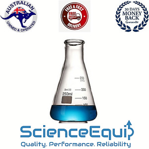 Conical Flask ERLENMEYER 5 to 5000 ml Premium Borosilicate Glass 1/4/8 Pc