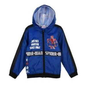 Spiderman Kids Hoodie Wind-Rain Jacket