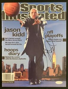 Jason Kidd Signed Sports Illustrated Mag 1/28/02 No Label Nets Autograph Steiner