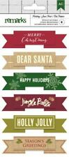 AMERICAN CRAFTS Holiday- Merry Christmas Layered Banner Stickers  340551