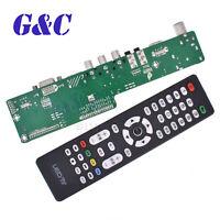 V29 Universal LCD TV Controller Board TV Motherboard VGA/AV/TV/USB DC 12V