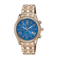 Citizen Eco-Drive Women's FB1363-56L Chronograph Blue Dial Rose Gold 40mm Watch