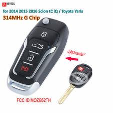 Flip Remote Car Key Fob 314MHz G for 2014-2016 Scion tC iQ/Toyota Yaris MOZB52TH