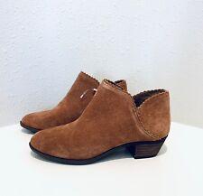 Crown&Ivy Women's Suede Ankle Booties Cognac/Sz:6/NEW