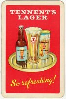 Playing Cards 1 Single Card Old TENNANT'S Brewery Advertising LAGER BEER Bottle