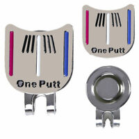One Putt Golf Alignment Aiming Tool Ball Marker Magnetic Visor Hat Clip Alloy Fa