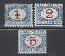 Dalmatia stamps 1922 MI Due 11-13  MLH  VF