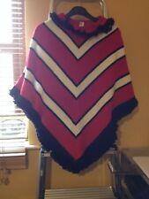 Vintage Women's Poncho - Play Fair Junior /An Orlon Garment (label) -Striped 70s
