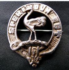 SCOTTISH CLAN WALLACE BADGE; STERLING SILVER, EDINBURGH HALLMARK FOR EBBUTT 1926