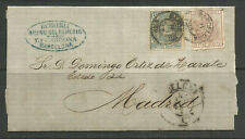 OSBURGH – SPAIN. FOLDED COVER. BARCELONA TO MADRID. C GIRONA.